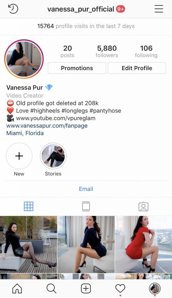 Vanessa Pur Instagram Account & Profile