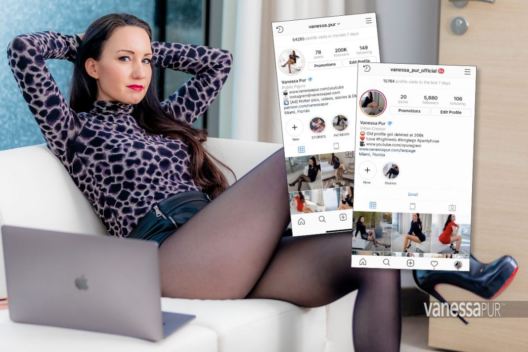 Official Instagram profiles of Vanessa Pur - Favorite photos in tights, pantyhose, leather, latex and overtheknee boots - hot looks with lingerie