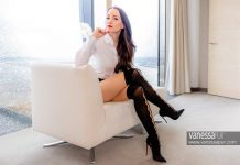 Over the knee stocking socks | Secretary outfit
