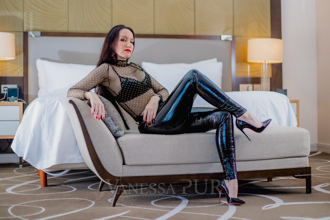 Vanessa Pur - Transparent Top - PATREON Page - Vinyl Pants - Exclusive FEMALE Boss - Lady - Louboutin High Heels
